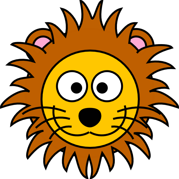 cartoon golden lion clip art at clkercom vector clip