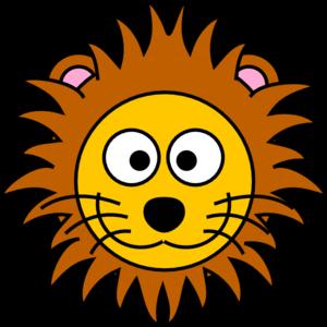 cartoon golden lion clip art at clker com vector clip art online rh clker com baby lion face clipart cartoon lion face clipart