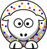 Sheep - Wonder Bread Colors Clip Art