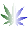 Weed Green White And Blue Clip Art
