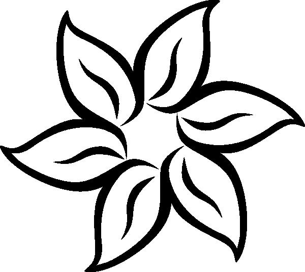 Flower Outline Icon. Vector Bloom Simple Illustration
