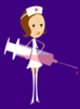 Nurse With Purple Background Clip Art