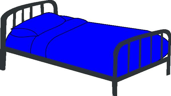 Bed Blue Clip Art At Clker Com Vector Clip Art Online