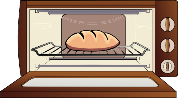 Oven Clip Art ~ Oven with pie clipart