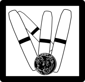 Candlepin Bowling Icon Clip Art