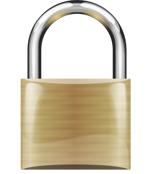 Lock clip art at vector clip art online royalty free public domain - Locked door clipart ...