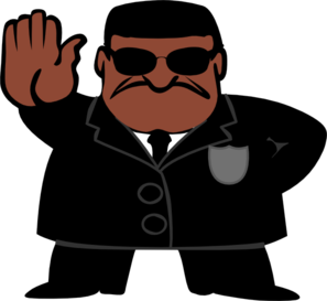 Black Fbi Dude Clip Art