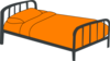 Orange Bed Clip Art