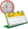 Clock And Calendar Clip Art