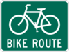 Bike Route Road Sign Clip Art