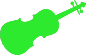 Green Violin Clip Art