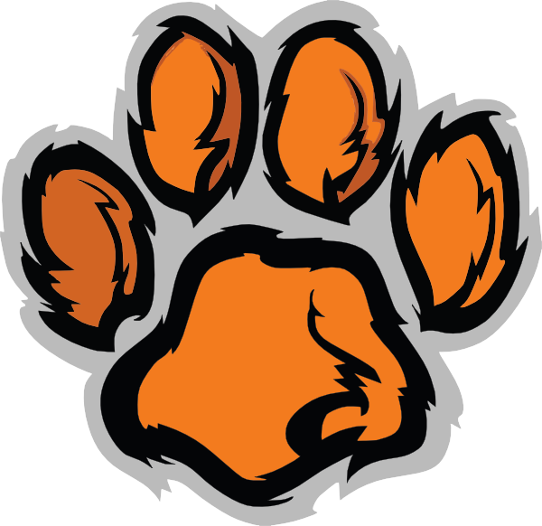 tiger paws clipart