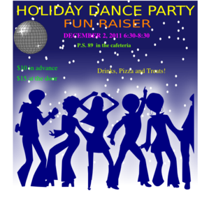 Holiday Dance Party Clip Art