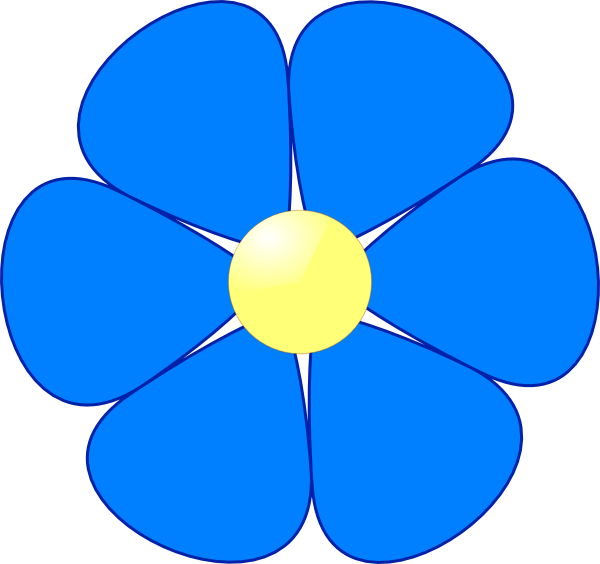 Blue Flower Clip Art At Vector Clip Art Online Royalty Free Public Domain