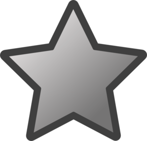 Outlined Star (grey) Clip Art