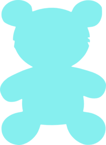Bear Outline Blue Clip Art