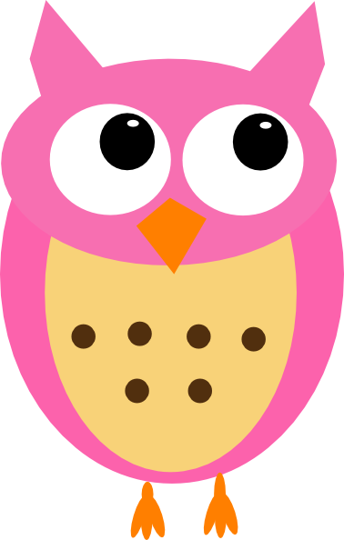 pink owl no branch clip art at clker com vector clip art online rh clker com  pink and purple owl clipart