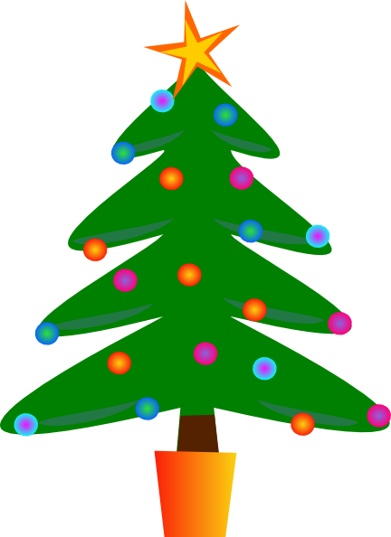 Christmas Tree Clip Art at Clker.com - vector clip art ...