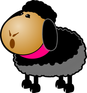 Black Sheep Clip Art