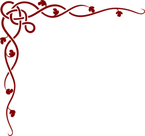 Celtic Vine-red Clip Art
