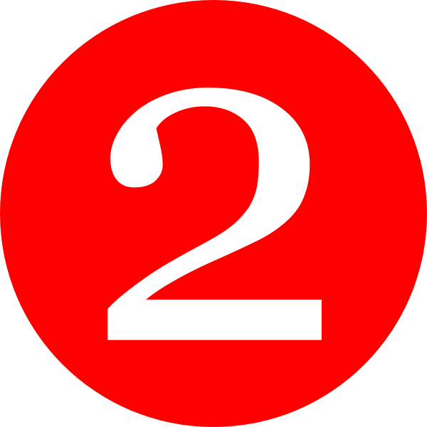 Red, Rounded,with Number 2 Clip Art at Clker.com - vector ...