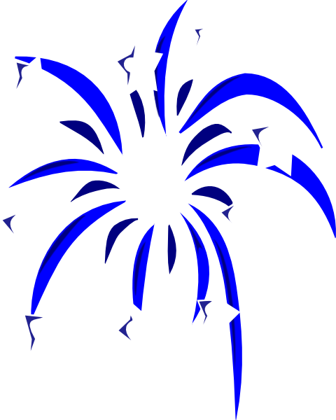 blue fireworks with white stars clip art at clker com vector clip rh clker com firework clipart no background fireworks clipart images