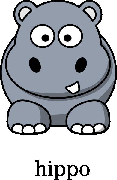 free clip art hippo cartoon - photo #9
