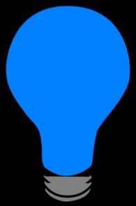 Blue Lightbulb Clip Art at Clker.com - vector clip art online, royalty ...