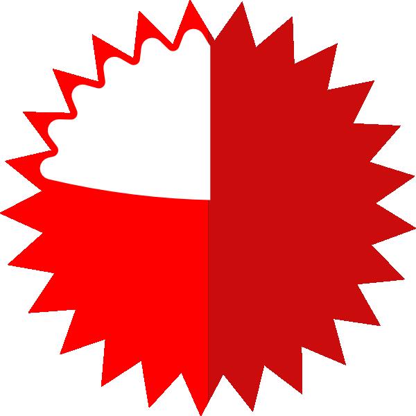 big red starburst clip art at clker com vector clip art online rh clker com