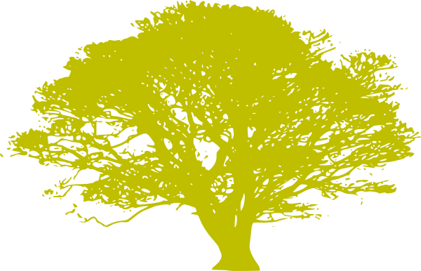 African Tree - Yellow Green Clip Art at Clker.com - vector ...