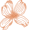 Burnt Orange Flower Clip Art