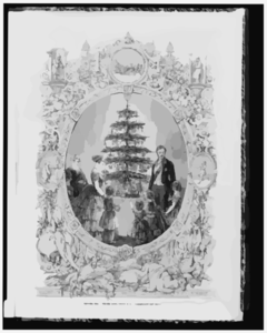 Christmas Tree At Windsor Castle  / Drawn By J.l. Williams. Clip Art