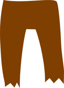 Brown Pirate Pants Clip Art