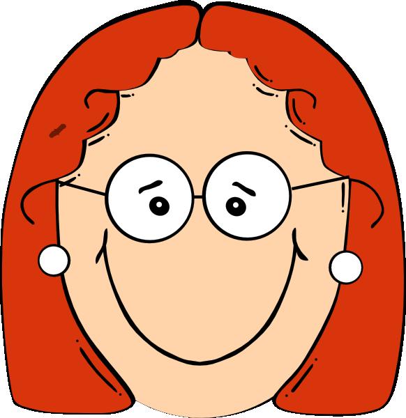 clipart girl glasses - photo #5
