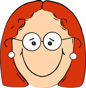 Happy Red Head Girl With Glasses Clip Art