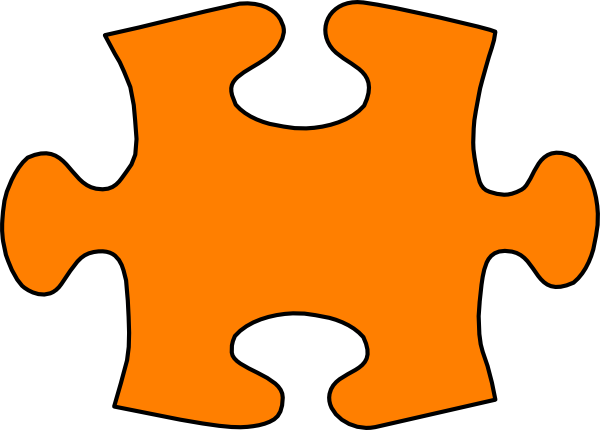 Orange Jigsaw Puzzle Piece Large Clip Art At Clker Com