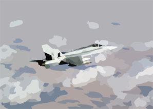 An F/a-18 Hornet Assigned To The Marauders Of Strike Fighter Squadron Eight Two (vfa-82) On Patrol. Clip Art