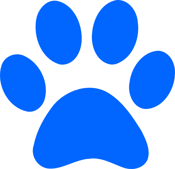 blue paw print clip art at clker com vector clip art online rh clker com paw print clip art black and white paw print clip art borders