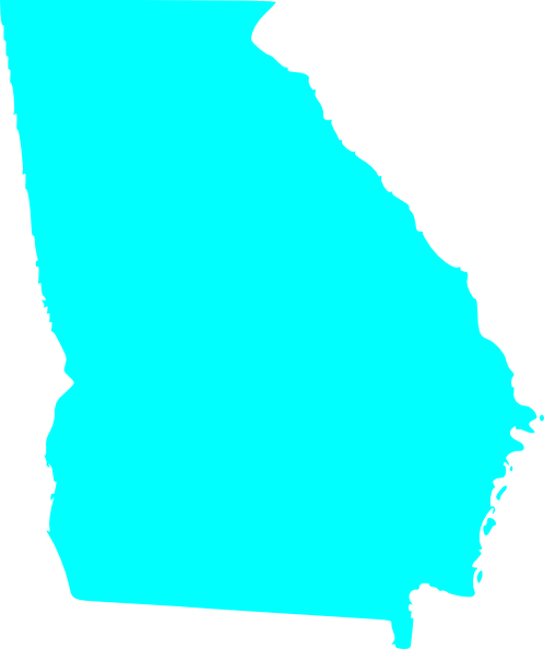 Georgia State Map Outline Solid Clip Art At Clkercom Vector - Georgia map outline
