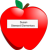 Apple Name Tag Clip Art