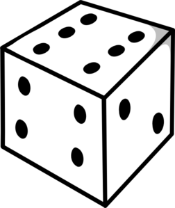 Dice Outline Clip Art