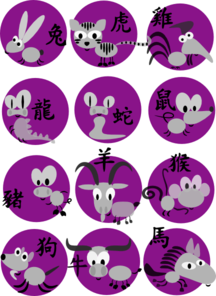 Chinese Horoscopes Clip Art