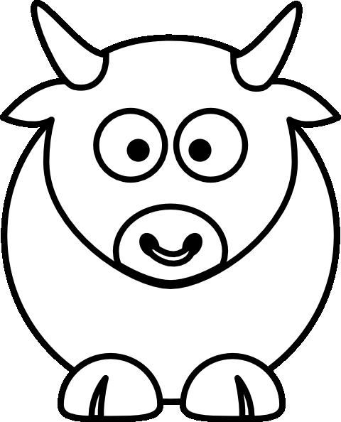 Bull White Clip Art At Clker Com Vector Clip Art Online