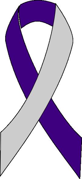 Purple Cancer Ribbon Png Purple/silver ribbon clip art