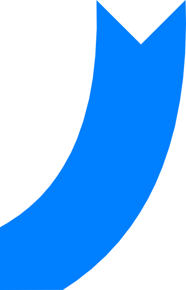 blue arrow curve clip art at clker com vector clip art online