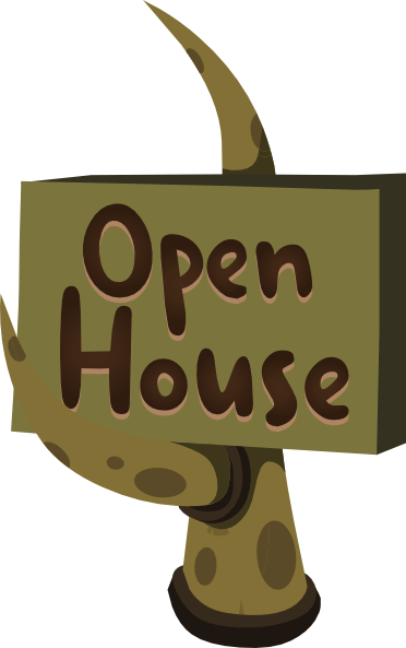free clip art open house - photo #14
