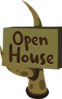 Firebog Open House Sign Clip Art