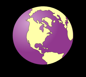 Purple Tinted Earth Black Background Clip Art