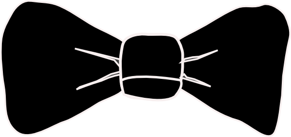 clipart bow tie outline - photo #45
