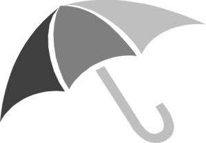 Gray Umbrella Clip Art